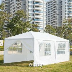 3x6M Gazebo Marquee Party Tent With 6 Sides Garden Patio Outdoor Canopy White UK