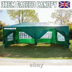 3x6M Green Outdoor Car Canopy Portable Cover Gazebo Garage Shelter Carport Tent
