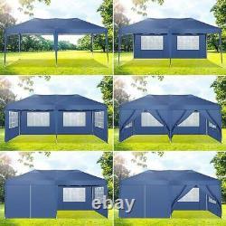 3x6M Heavy Duty PopUp Gazebo Waterproof Outdoor Garden Party Tent with Sandbag