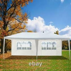 3x6M Large Garden Heavy Duty Gazebo Marquee Party PE Tent Wedding Canopy White