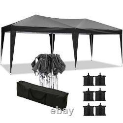 3x6m Garden Heavy Duty PopUp Gazebo Marquee Party Tent Wedding Canopy W. Sandbag