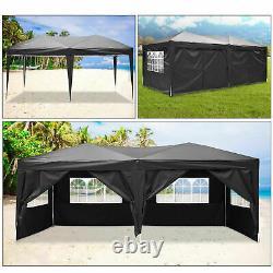 3x6m Pop Up Gazebo Waterproof Marquee Canopy Outdoor Garden Party Wedding Tent