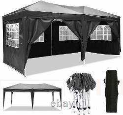 3x6m Pop Up Gazebo Waterproof Marquee Canopy Outdoor Garden Party Wedding Tent B
