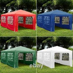 3x6m Sides Gazebo Marquee Tent Garden Party Waterproof Canopy Shelter Windbars