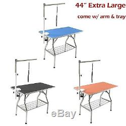 44 Large Stainless Steel Heavy Duty Pet Dog Foldable Grooming Table -Flying Pig
