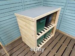 4 Bin Recycle Store With Felt Roof. FREE LOCAL DELIVERY. No Assembly Required