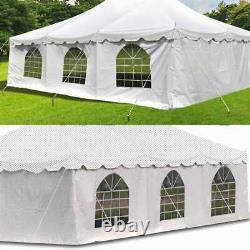 4 Sidewalls 20x30' Canopy Tent Enclosure Kit 8'H Waterproof Vinyl Privacy Panel