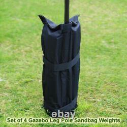 4 X Garden Gazebo Pole Foot Leg Sandbag Weight Market Marque Stall Sand Bag