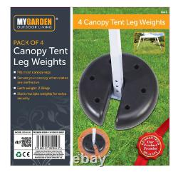 4 x OUTDOOR CANOPY TENT GAZEBO LEG WEIGHTS ANCHOR STAND HEAVY DUTY DISCS BASE