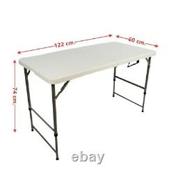 4ft Heavy Duty Folding Table Portable Plastic Camping Garden Party Catering