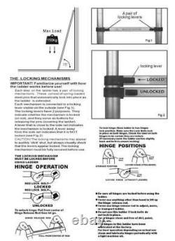 5M Portable Heavy Duty Fold Multi-Purpose Aluminium Telescopic Ladder Extendable