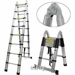 5M Portable Heavy Duty Multi-Purpose Aluminium Extendable Telescopic Ladder Loft