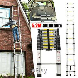 5.2M Multi-Purpose Aluminium Telescopic Step Ladder Climb Extendable Heavy Duty