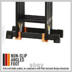 5.7M Multi Purpose Folding Aluminium Heavy Duty Ladder Adjustment 14 in 1