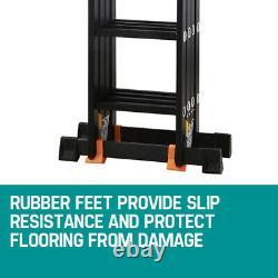 5.7M Multi Purpose Folding Aluminium Heavy Duty Ladder Step With Platform