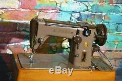 60's Vintage Singer 306K heavy duty Antique sewing machine + Pedal WORKING WELL