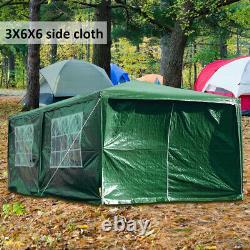 6X3M Heavy Duty Gazebo Waterproof Marquee Canopy Outdoor Garden Party Tent UK