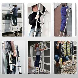 6.2M 20.3ft Extendable Portable Heavy Duty Aluminium Telescopic Ladder