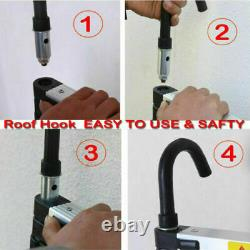 6.2M Portable Heavy Duty Aluminium Telescopic Ladder Extendable With Safety Hook