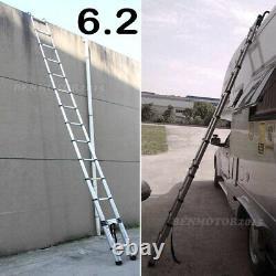 6.2M Portable Heavy Duty Multi-Purpose Aluminium Telescopic Ladder Extendable UK