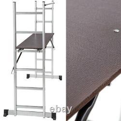 6 Steps Industrial Heavy Duty Aluminum Scaffolding Tower Ladder Working Platform