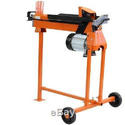 7 Ton Heavy Duty Electric Log Splitter Hydraulic Wood Cutter With Stand Duoblade