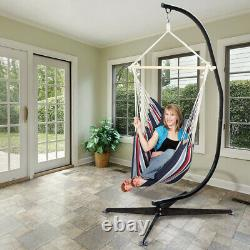 7ft Tall Multi-Use Heavy-Duty Steel Hammock Stand Frame for Swing Egg Chairs Bed