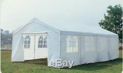 8M X 4M Garden Large Marquee Wedding/Party Tent Gazebo White Showerproof