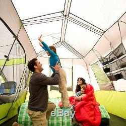 9 Person 2 Room Instant Cabin Tent with Screen Room vacation Outdoor Camping