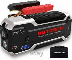 AUTOGEN 3000A Heavy Duty Truck Battery Booster Pack Jump Starter Box Portable