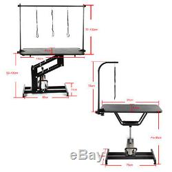 Adjustable Steel Non-slip Portable/Folding/Hydraulic Dog Grooming Table Stand UK