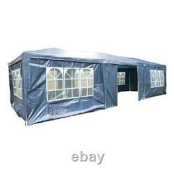 AirWave 9m x 3m Party Tent Gazebo 3 FREE WINDBARS Water Resistant, 8 Sides