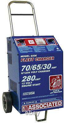 Associated 6006 6/12/24 Volt Heavy Duty Commercial Fleet Battery Charger New USA
