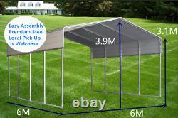 BM 6x6M Carport Kit Backyard Shade Shelter Portable Shed Carports Gazebo Pergola