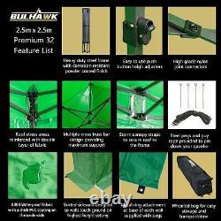 BULHAWK 2.5x2.5m COMMERCIAL GRADE HEAVY DUTY POP UP GAZEBO MARKET STALL MARQUEE