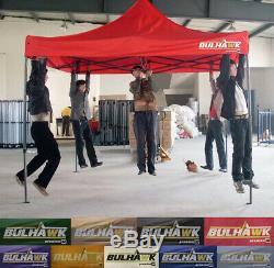 BULHAWK 3x3m COMMERCIAL GRADE HEAVY DUTY POP UP GAZEBO MARKET STALL MARQUEE