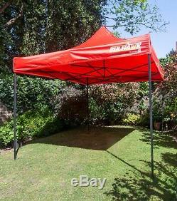 BULHAWK 3x3m QUANTUM 30 HEAVY DUTY POP UP GAZEBO GARDEN SUN SHADE PARTY TENT