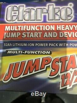 Battery Jump Starter Pack Booster Heavy Duty Latest CLARKE 12/24V LITHIUM-ION