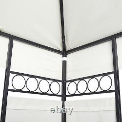 Beige Garden Gazebo 3m x 4m Outdoor Marquee Party Tent Shelter Pavilion Patio