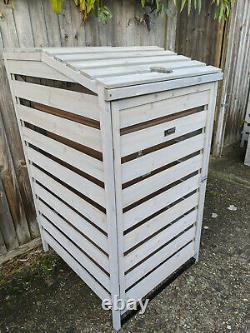 Bin Garden Single Wheelie Dustbin Store Rubbish Cover Tidy Hideaway Storage Shed