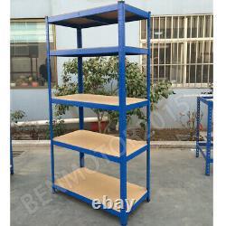 Blue Garage Racking 5 Tier Shelving Unit Boltless Heavy Duty Metal Shelf Storage
