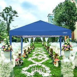 Blue Waterproof 3x3m Heavy Duty Gazebo Marquee Garden Awning Party Tent Canopy