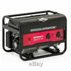 Briggs and Stratton Sprint 2200 240V Petrol Generator 2125w 196cc Heavy Duty