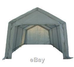 COSMETIC DAMAGED Portable Garage Carport Shelter Car Canopy 3m x 6m White