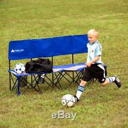 Camping Bench Seat Chair Folding Outdoor Portable Sports 4 Person Soccer New