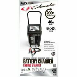 Car Battery Charger Jump Starter Portable 200 Amp Heavy Duty Compact 40-amp Easy