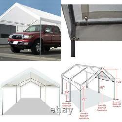 Carport Canopy Heavy Duty Tent 10 X 20 Domain White Caravan Portable Garage Car