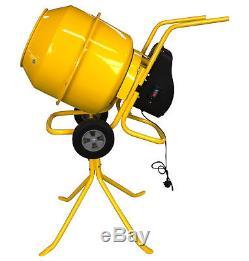 Charles Bentley 140L 230V 550W Portable Cement Concrete Sand Mixer Heavy Duty