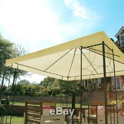 Charles Bentley 3Mx3M Steel Art Outdoor Gazebo Luxury Metal Frame Marquee Cream