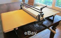 Clay Slab Roller Synchronized Adjusters Heavy Duty Portable Tabletop No Shims